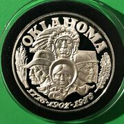Oklahoma State Proof Coin 34 Grams .925 Fine Sterling Silver Collectible Round
