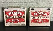 Two Vintage Between The Acts Little Cigars Tins Tobacco Spice Pipe Cigar