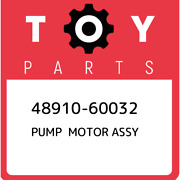 48910-60032 Toyota Pump And Motor Assy, Height Control 4891060032, New Genuine Oem