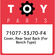 71077-33j70-f4 Toyota Cover, Rear Seat Back For Bench Type 7107733j70f4, New G