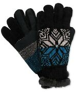 138 Isotoner Signature Women Black Touchscreen Winter Smartouch Gloves One Size