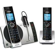Vtech Connect To Cell Ds6771-3 Dect 6.0 Cordless Phone - Black, Silver Ds67713