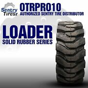 38x14-20 Sentry Tire Solid Loader 2 Tires W/ Wheels 38-14-20 15x19.5 For Kobelco