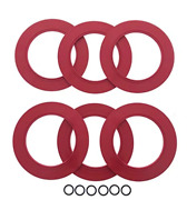 6 Pack Flush Valve Seals For American Standard And Eljer Toilets, Best Replacement