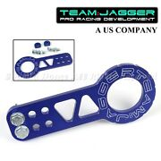 For Toyota Bolt On Jdm Gear Style Race Use Billet Blue Front Tow Hook +screws