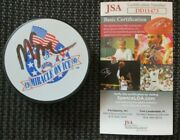 Mike Eruzione Signed Team Usa Miracle On Ice Puck Jsa Authenticated Coa Dd11473