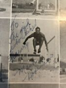 Signed Jackie Robinson's Brother Us Olympic Medalist Mack High School Yearbook