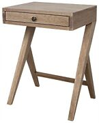 24 T Set Of 2 Side Table Modern Rustic Single Drawer Solid Hand Crafted Walnut