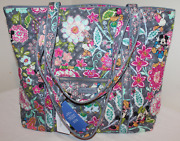 Vera Bradley Large Iconic Vera Bag Disney Parks Mickey And Friends Collection