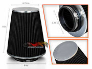 2.75 Cold Air Intake High Flow Racing Truck Filter Universal Black For Bmw