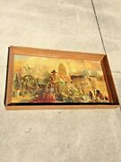 Antique / Vtg 50 Hand Carved / Chiseled Wood Shadow Box Picture Painting Frame