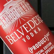 Belvedere Vodka Sleek Red 6th Edition Empty Bottle And 2 Jiggers