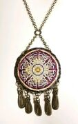 Loschy Handmade Bronzetone Mixed Materials Pendant Chain Necklace | 25.4 Gms