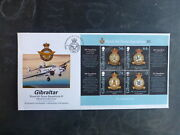 Gibraltar 2014 Raf Squadrons 4 Stamp Mini Sheet Fdc First Day Cover