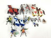 Papo Safari Plastic Knight And Horse Toys Lot Of 13