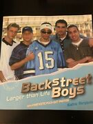 Backstreet Boys Larger Than Life Photo Book By Kathie Bergquist - Mint