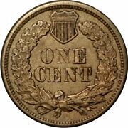 1863 Cn Indian Cent Error With Strike Doubling On Reverse- Aa532uqdc