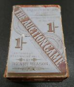 Antique Card The Auction Game 1880s Complete Vintage Very Rare