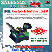 Alk-88a Fiber Optic Fusion Splicer Cleaver Automatic Focus Function 4.3 Lcd