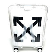 Unused Offwhite X Rimowa 83290002 See Through Luggage Suitcase Carry Bag