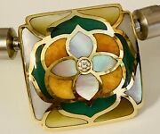 18k Yellow Gold Inlaid Reversible Interchangeable Clasp By Asch Grossbardt
