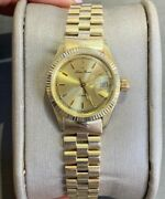 Estate Lady's 14k Yellow Gold Watch Made In Italy