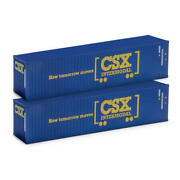 Menards O Scale 40-foot Csx Containers 2-pack