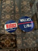 Wallace For President Rare Campaign Button Pinback Presidential Lot Of 2