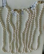 Aaa 7-7.5mm Japanese Akoya Cultured Pearl Necklace 14k Gold Clasp, 17 New