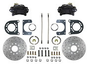 Rear Disc Brake Kit For Ford 8in And 9in Small Bearing Axle Black Calipers