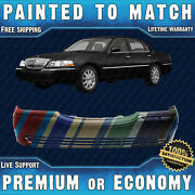 New Painted To Match Front Bumper Cover For 2003-2011 Lincoln Town Car Fo1000528