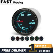 52mm Black Face Turbo Boost / Vacuum Pressure Psi Gauge W 7 Colors And Hose Kit A5