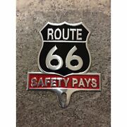 Route 66 Car Badge License Plate Topper - New - Great Gift Item
