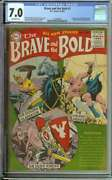 Brave And The Bold 1 Cgc 7.0 Ow Pages // 1st Issue + 1st Viking