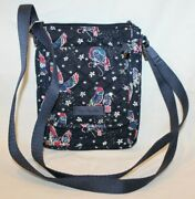 Vera Bradley Mini Hipster Crossbody In Holiday Owls Rfid Protection