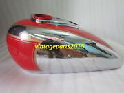 New Ariel Square Four Red Painted Chrome Gas Fuel Petrol Tank Reproduction