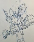 Transformers Drawing, Prowl And The Protectobots G1 And Print Incl.