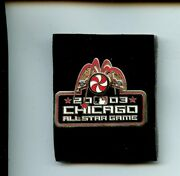 Original 2003 All Star Game Press Pin At Chicago White Sox Comiskey Park Nm