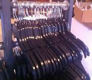 Lot Of 70 Black Plastic Adult Clothes Hangers 17 Wide Free Shipping