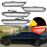 Fits 2010-2015 Chevy Camaro Clear Lens Led Side Marker Lights Front And Rear Kit
