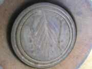 Antique Wheat Wooden Butter Mold Press Great Condition Country Primitive