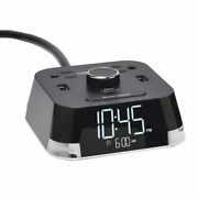 Brandstand Bpect Cubietime Alarm Clock Charger W/2 Usb Ports And 2 Outlets Ch...