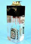Vintage Ronson Lucite Table Lighter Advertising Chivas Regal Scotch Whisky In It
