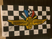 26 Winners Signed 3'x5' Flag Indianapolis Indy 500 Aj Foyt Bobby Al Unser Jr +++