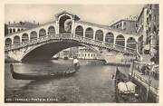 B107482 Italy Venezia Ponte Di Rialto Bridge Gondola Real Photo Uk