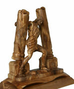 Olive Wood Statue Of Samson Breaking Walls In The Bible Ot From The Holy Land