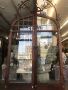 Arts And Crafts Tutor Style Arced Leaded Glass Casement Windows 63x44 Open