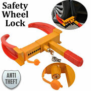 Auto Car Truck Rv Anti-theft Towing Parking Wheel Lock Clamp Coating Handle
