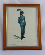Dolphin Room Sheet Official Of Infantry Lightweight 1807 - Framed And Crystal