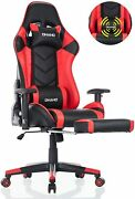 Ohaho Ergonomic Computer Gaming Chair With Footrest Lumbar Massage Support
